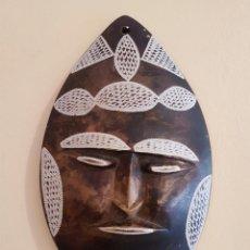 Arte: MÁSCARA ANTIGUA DE ARTE AZTECA EN PÌEDRA TALLADA A MANO .. Lote 63398800