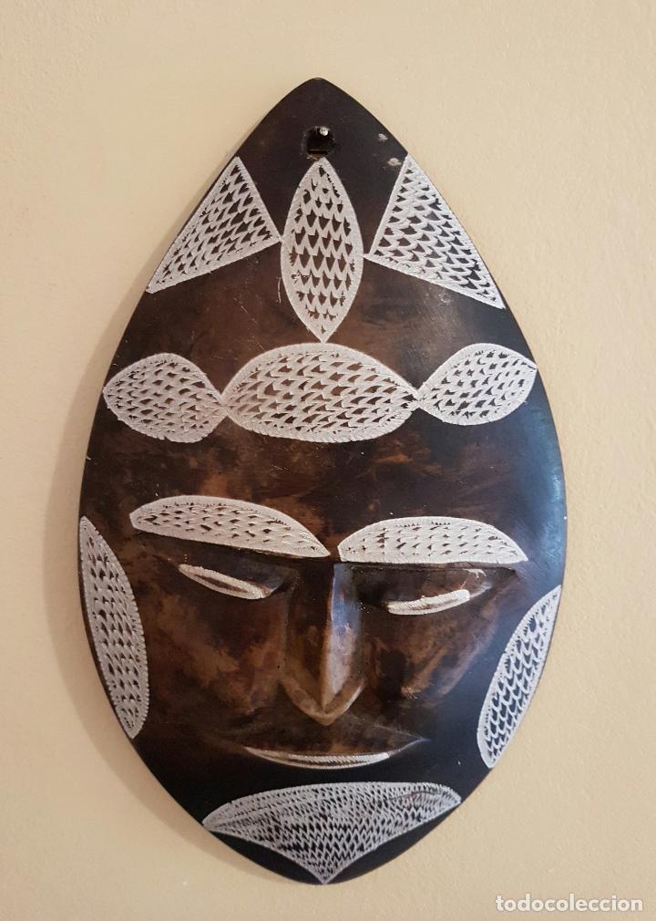 Arte: Máscara antigua de arte azteca en pìedra tallada a mano . - Foto 5 - 63398800