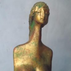 Arte: ARTE ESCULTURA FIGURA TERRACOTA PATINADO ORO URBANI CLAUDE LES VOILES D´ANTIBES. Lote 63422540