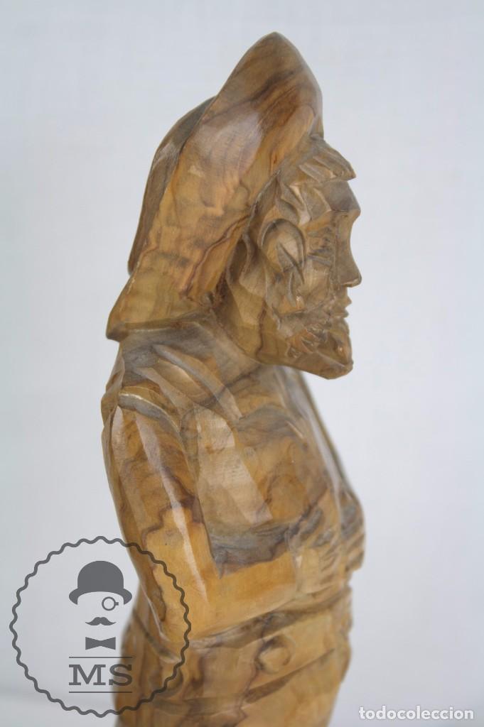 Arte: Pareja de Esculturas / Tallas en Madera - Don Quijote y Sancho Panza - Altura 35 cm y 28,5 cm - Foto 4 - 63634359