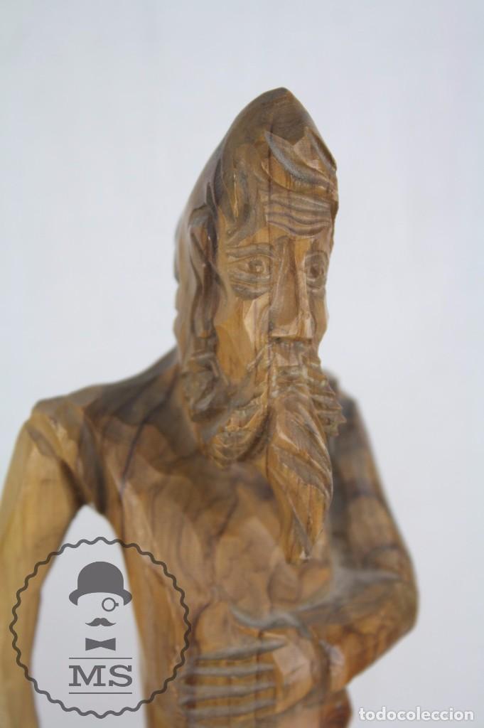 Arte: Pareja de Esculturas / Tallas en Madera - Don Quijote y Sancho Panza - Altura 35 cm y 28,5 cm - Foto 7 - 63634359