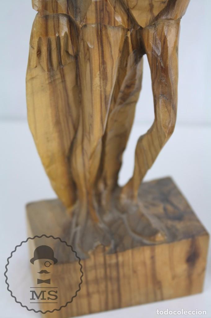 Arte: Pareja de Esculturas / Tallas en Madera - Don Quijote y Sancho Panza - Altura 35 cm y 28,5 cm - Foto 8 - 63634359