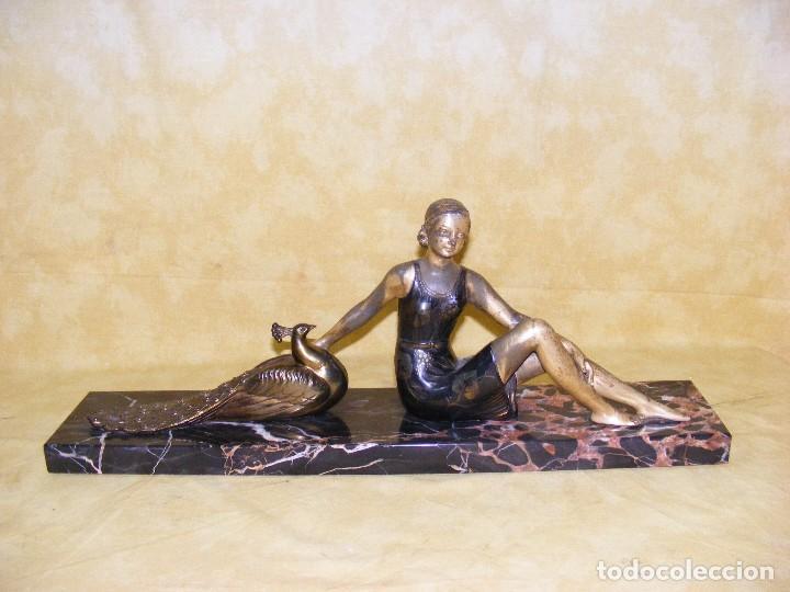 ESCULTURA ART DECO1920 (Arte - Escultura - Bronce)