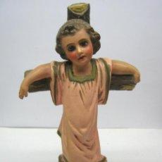 Arte: ANTIGUA ESCULTURA TERRACOTA S. XIX - DIVINO NIÑO JESUS. Lote 65688618