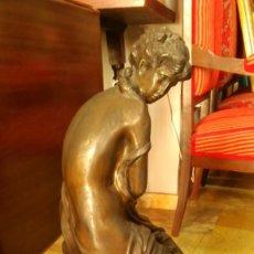 Arte: FIGURA MUJER DE BRONCE, FIRMADO MONEAU. Lote 66315270