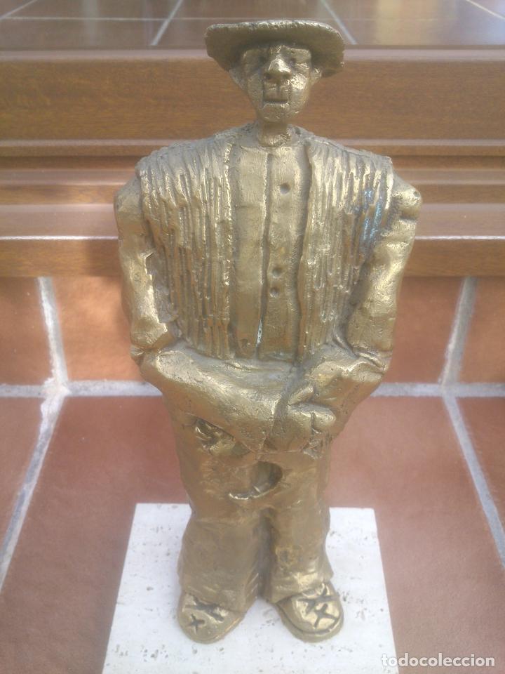 PRECIOSA ESCULTURA SEGADOR EN BRONCE (Arte - Escultura - Bronce)