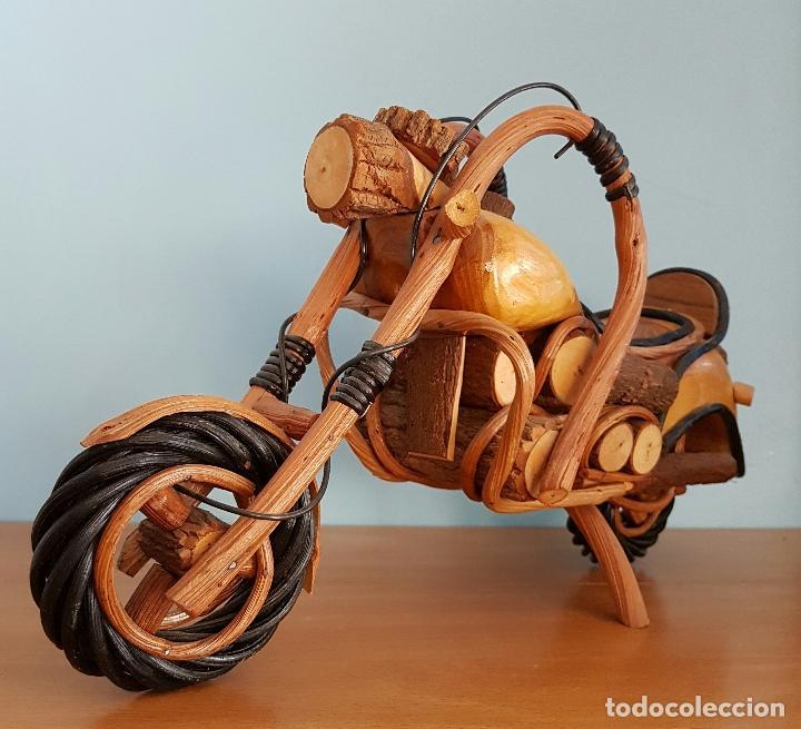 Arte: Original escultura de moto tipo Harley davidson en maderas nobles macizas a escala . - Foto 5 - 68922117