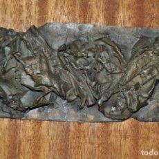 Arte: ESCULTURA DE BRONCE ART BRUT FIRMADA , PIEZA ÚNICA. Lote 69011105