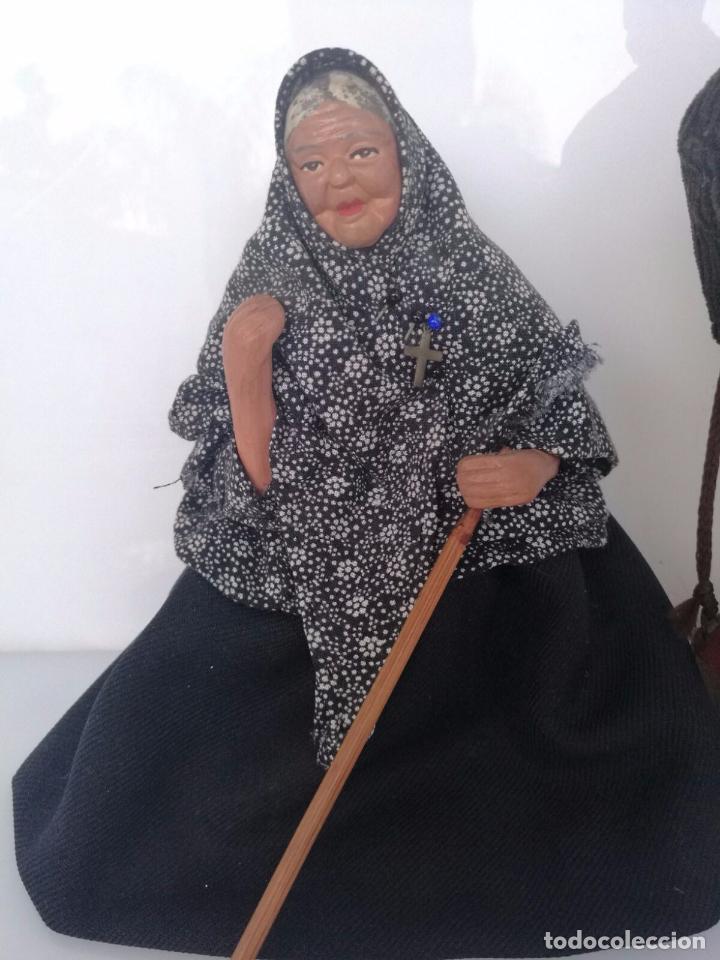 Arte: Pareja de abuelos - Figuras de Barro terracota - tipo belén napolitano 19,5 cm y 18cm - Foto 6 - 69063109