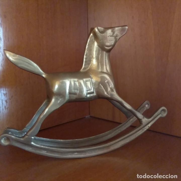 CABALLITO BALANCIN DE BRONCE (Arte - Escultura - Bronce)