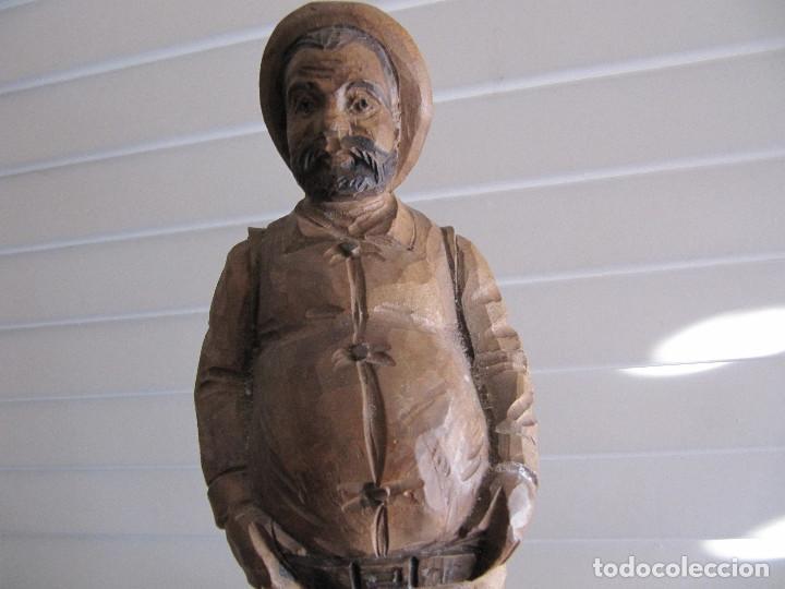 Arte: Escultura figura SAncho Panza Ouro madera sellada número de serie made in Spain - Foto 2 - 71547143