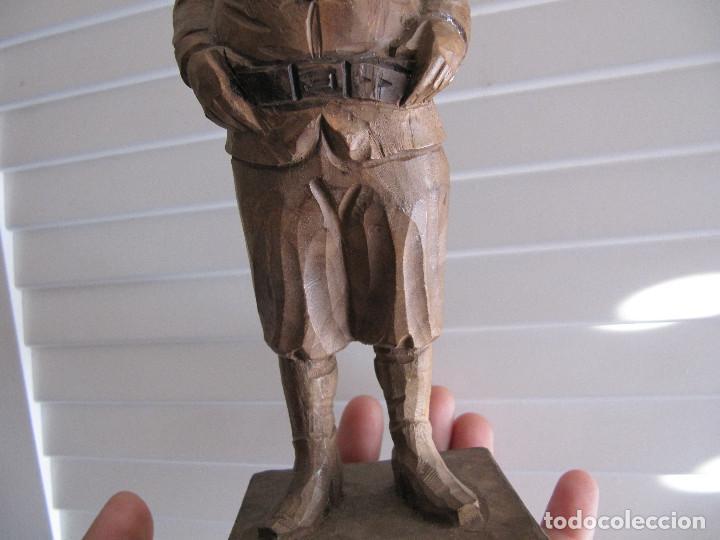 Arte: Escultura figura SAncho Panza Ouro madera sellada número de serie made in Spain - Foto 3 - 71547143