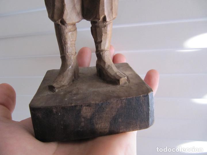 Arte: Escultura figura SAncho Panza Ouro madera sellada número de serie made in Spain - Foto 4 - 71547143