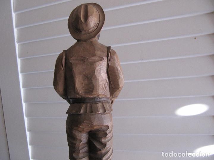 Arte: Escultura figura SAncho Panza Ouro madera sellada número de serie made in Spain - Foto 6 - 71547143