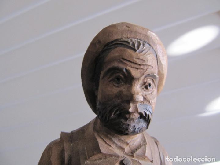 Arte: Escultura figura SAncho Panza Ouro madera sellada número de serie made in Spain - Foto 9 - 71547143