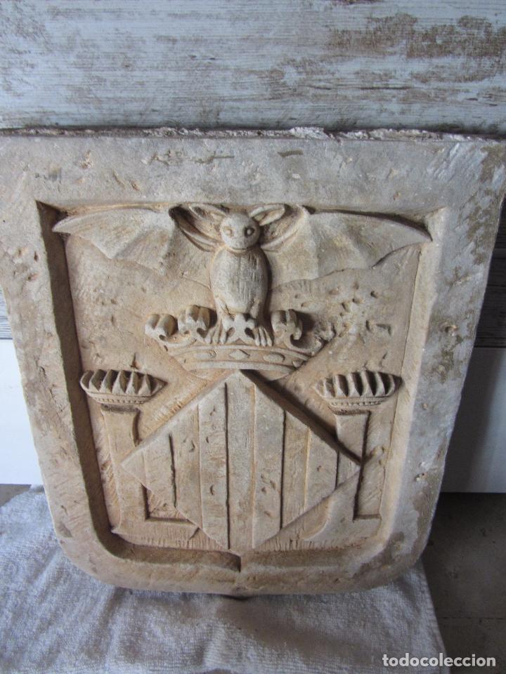 Arte: Antiguo Escudo de Valencia Realizado en Piedra - Foto 2 - 27425823