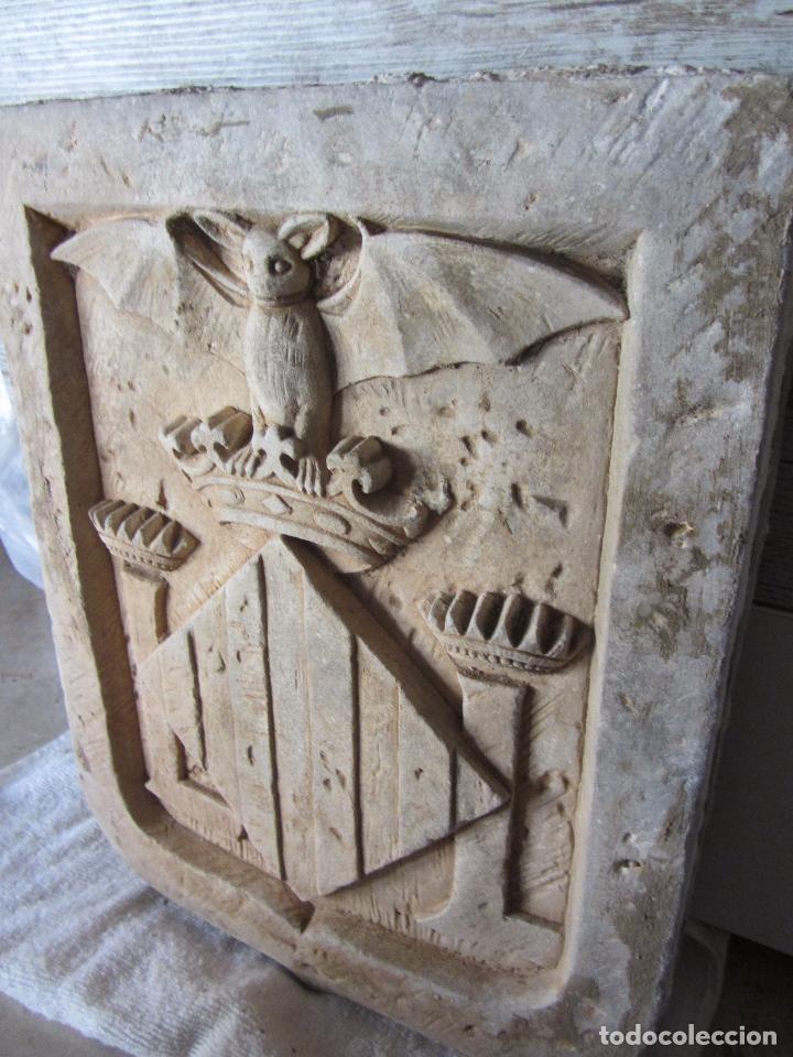 Arte: Antiguo Escudo de Valencia Realizado en Piedra - Foto 3 - 27425823