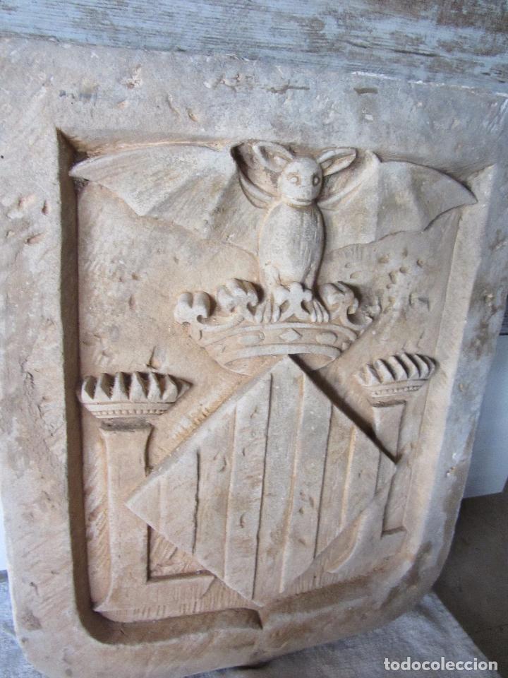 Arte: Antiguo Escudo de Valencia Realizado en Piedra - Foto 4 - 27425823