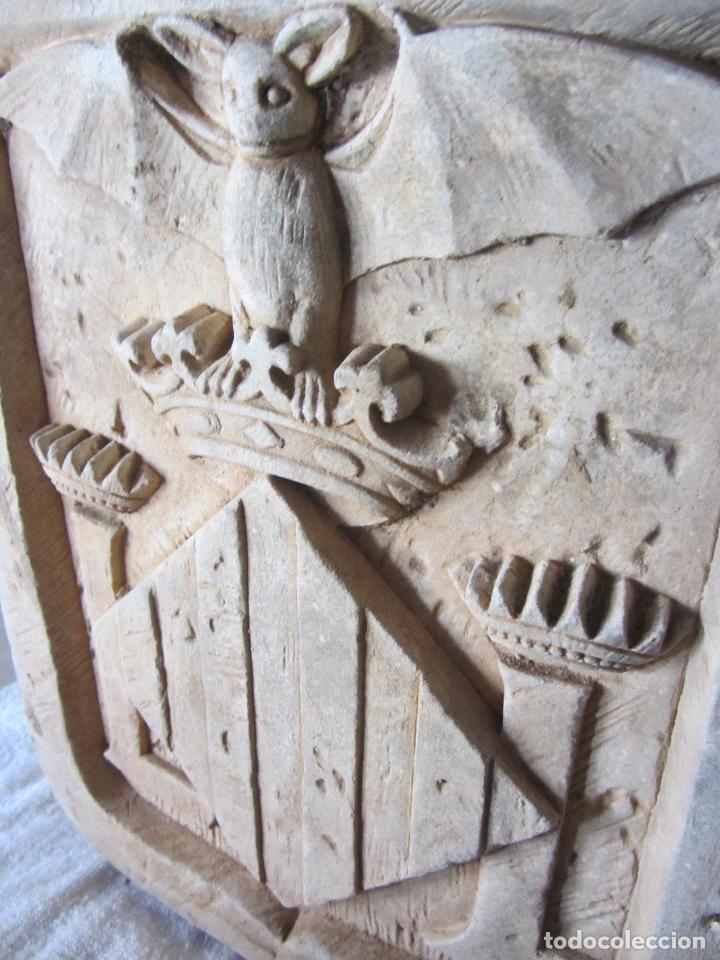 Arte: Antiguo Escudo de Valencia Realizado en Piedra - Foto 6 - 27425823