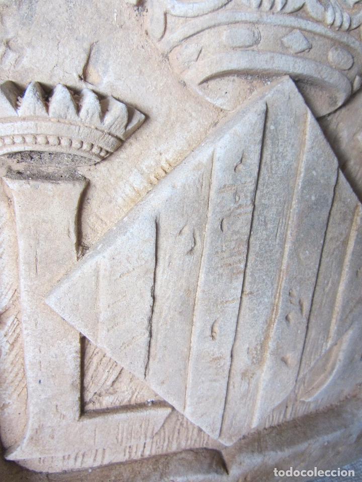Arte: Antiguo Escudo de Valencia Realizado en Piedra - Foto 12 - 27425823