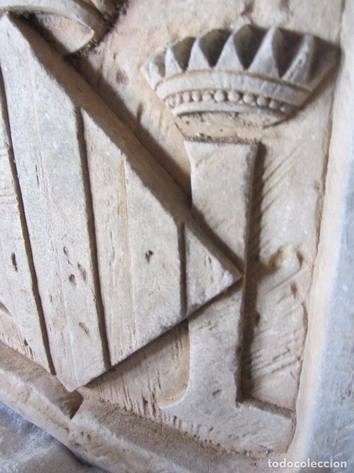 Arte: Antiguo Escudo de Valencia Realizado en Piedra - Foto 13 - 27425823