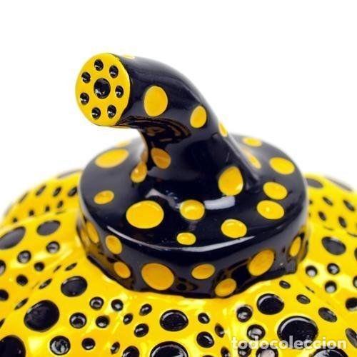 Arte: YAYOI KUSAMA Escultura calabaza Sculpture Pumpkin ( Yellow / Black ) - Foto 4 - 72874419