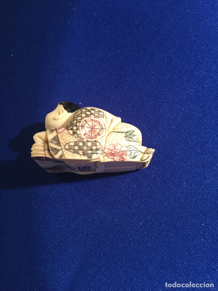 Arte: Antiguo netsuke en marfil. Siglo XIX - Foto 4 - 72901162