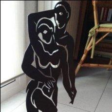 Arte: EXPRESIVA ESCULTURA RECORTADA EN HIERRO. Lote 73270187
