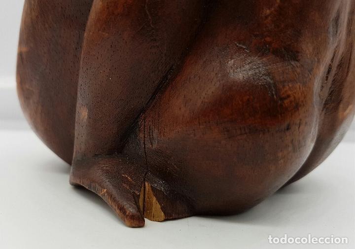 Arte: Pareja de amantes australopithecus abrazándose en madera maciza tallada a mano . - Foto 5 - 74747527