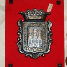 Arte: ESCUDO DE BRONCE MACIZO DE LOGROÑO (LA RIOJA). Lote 75632551