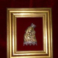 Arte: VIRGEN CON NIÑO EN BRONCE Y PLATA. Lote 75872623