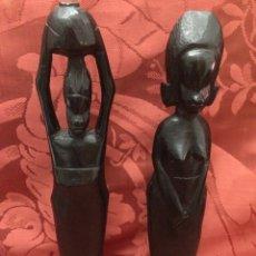 Arte: FIGURAS AFRICANA DE MADERA. Lote 76559081