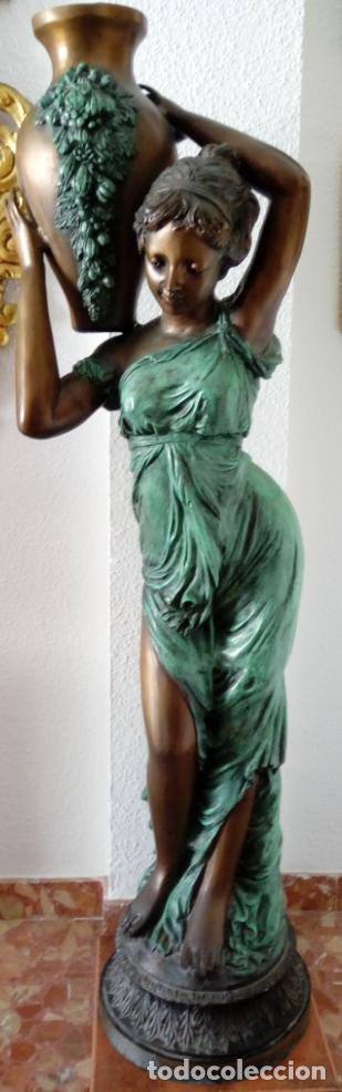ESCULTURA EN BRONCE -REBECA-, S. XIX. 136 CMS DE ALTURA (Arte - Escultura - Bronce)