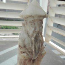 Arte - Antigua figura de Monje Chino en Alabastro - 31272280