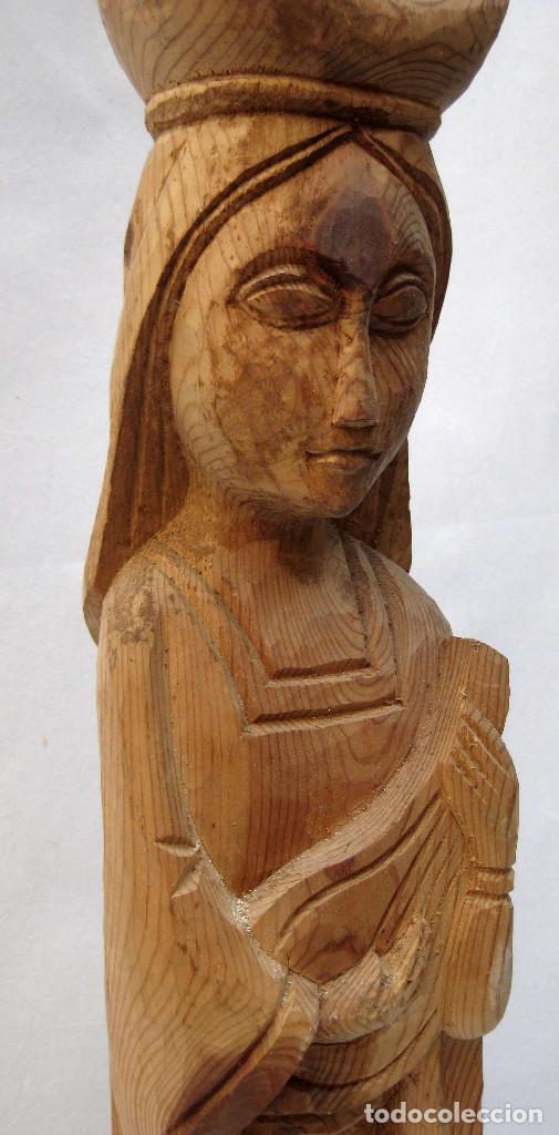 Escultura antigua talla madera imagen tipo roma comprar - Esculturas de madera abstractas ...