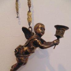 Arte: ANGEL TORCHERO O LAMPADARIO, BRONCE. Lote 77869405
