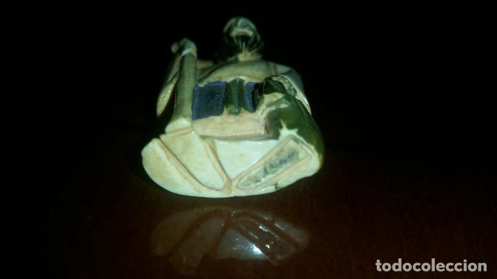 Arte: Antiguo netsuke policromado en marfil - Foto 3 - 80702050