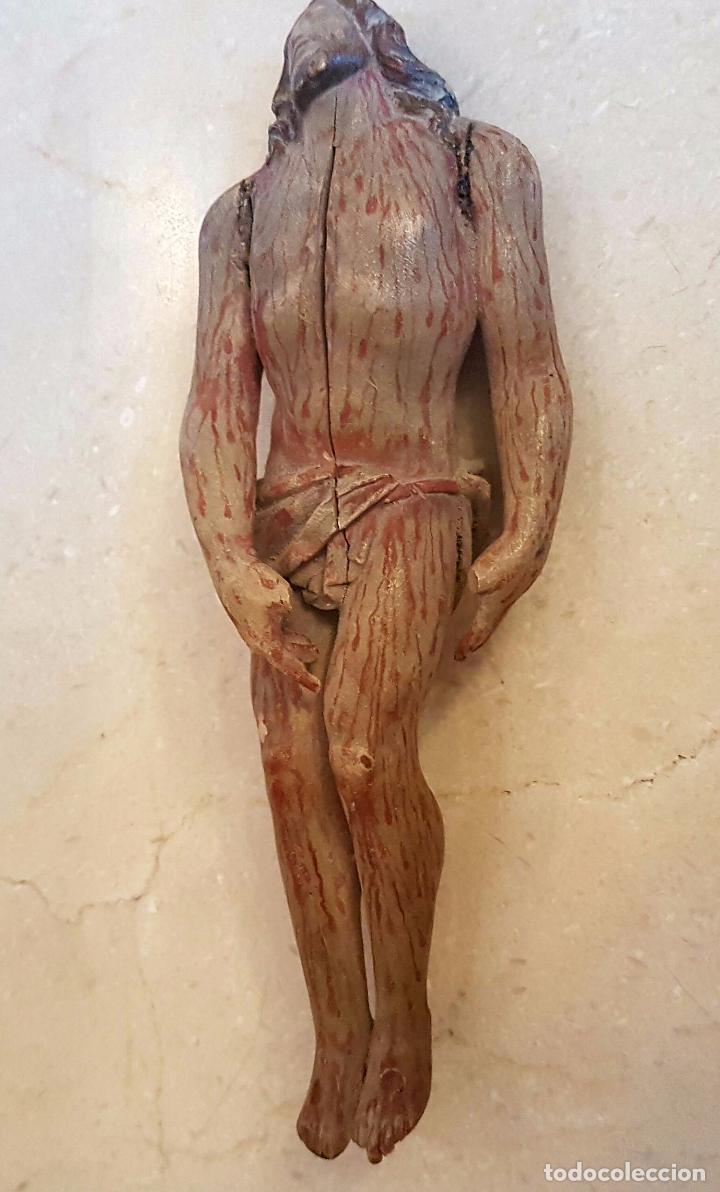 Arte: EXCEPCIONAL TALLA EN MADERA DE CRISTO BAJADO DE LA CRUZ,S. XVIII - Foto 4 - 80883423