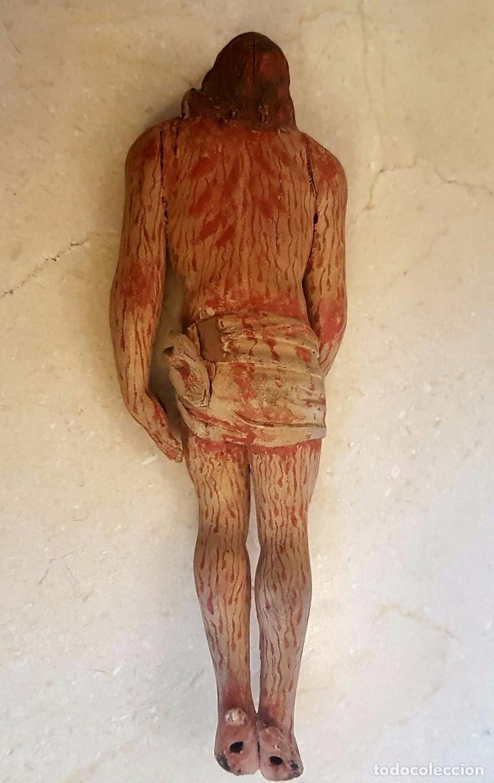 Arte: EXCEPCIONAL TALLA EN MADERA DE CRISTO BAJADO DE LA CRUZ,S. XVIII - Foto 5 - 80883423