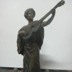 Arte: PRECIOSA ESCULTURA DEL ARTISTA A.J.SCOTTE FECHADA EN 1905, TITULADA INSPIRATION, FIRMADA EN LA PIEZA. Lote 81629052