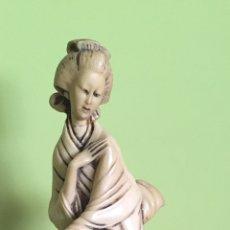Arte: FIGURA JAPONESA DE MARFILINA / RESINA. SELLO EN BASE. 45 CM. Lote 82323875