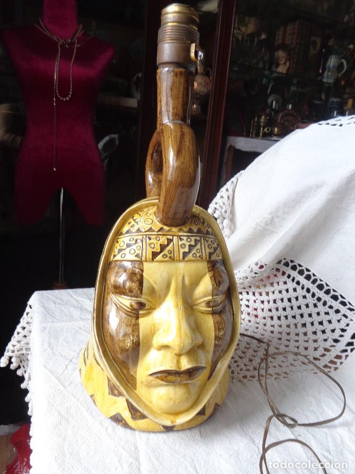Arte: TERRACOTA ESMALTADA - COLY. MOCHICA -PERU- ES LAMPARA - TAL VEZ AÑOS 60 - Foto 2 - 82619320