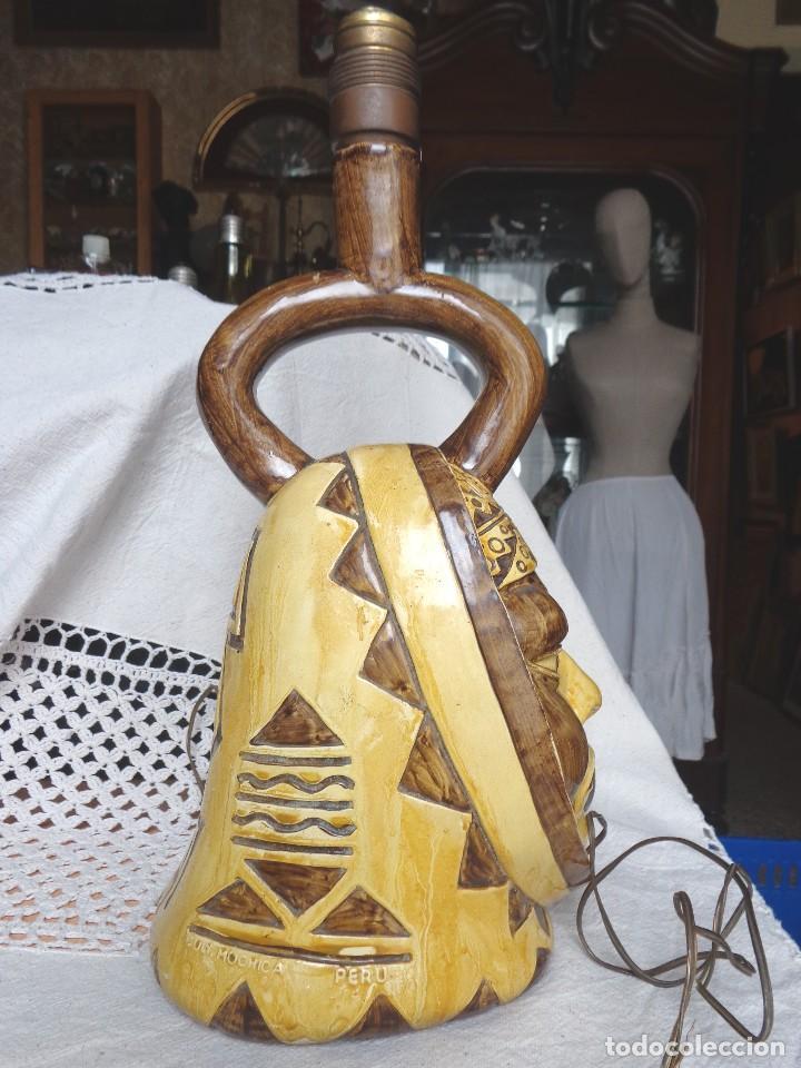 Arte: TERRACOTA ESMALTADA - COLY. MOCHICA -PERU- ES LAMPARA - TAL VEZ AÑOS 60 - Foto 3 - 82619320