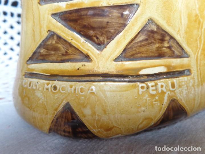 Arte: TERRACOTA ESMALTADA - COLY. MOCHICA -PERU- ES LAMPARA - TAL VEZ AÑOS 60 - Foto 4 - 82619320