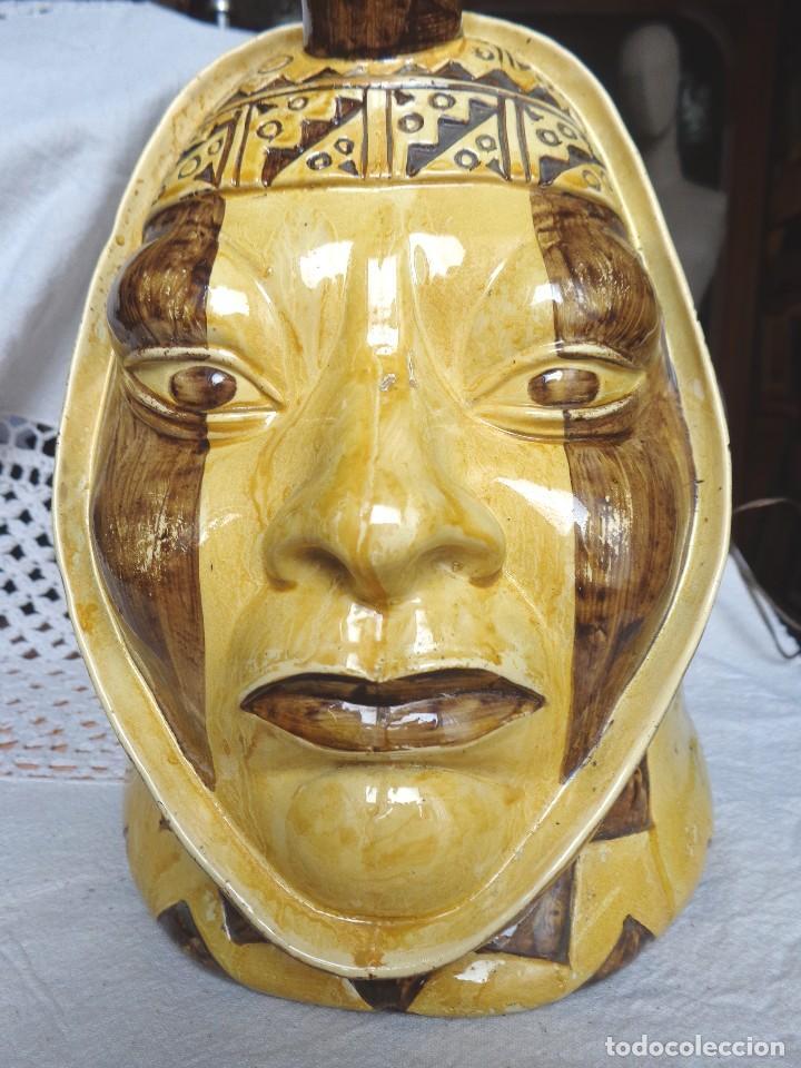 Arte: TERRACOTA ESMALTADA - COLY. MOCHICA -PERU- ES LAMPARA - TAL VEZ AÑOS 60 - Foto 7 - 82619320
