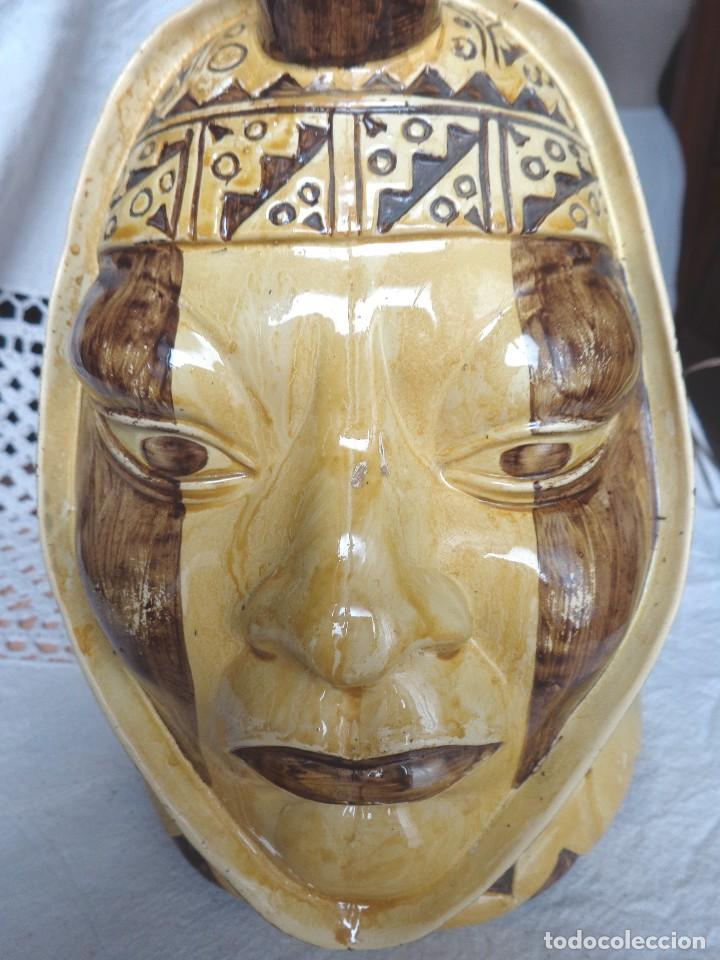 Arte: TERRACOTA ESMALTADA - COLY. MOCHICA -PERU- ES LAMPARA - TAL VEZ AÑOS 60 - Foto 8 - 82619320