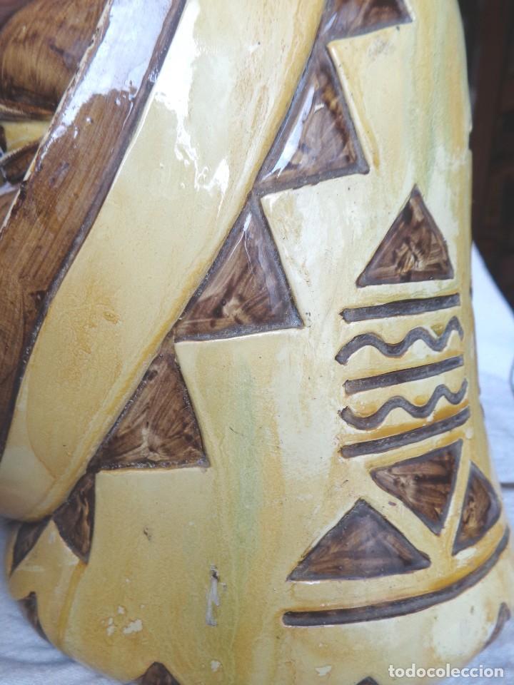 Arte: TERRACOTA ESMALTADA - COLY. MOCHICA -PERU- ES LAMPARA - TAL VEZ AÑOS 60 - Foto 10 - 82619320