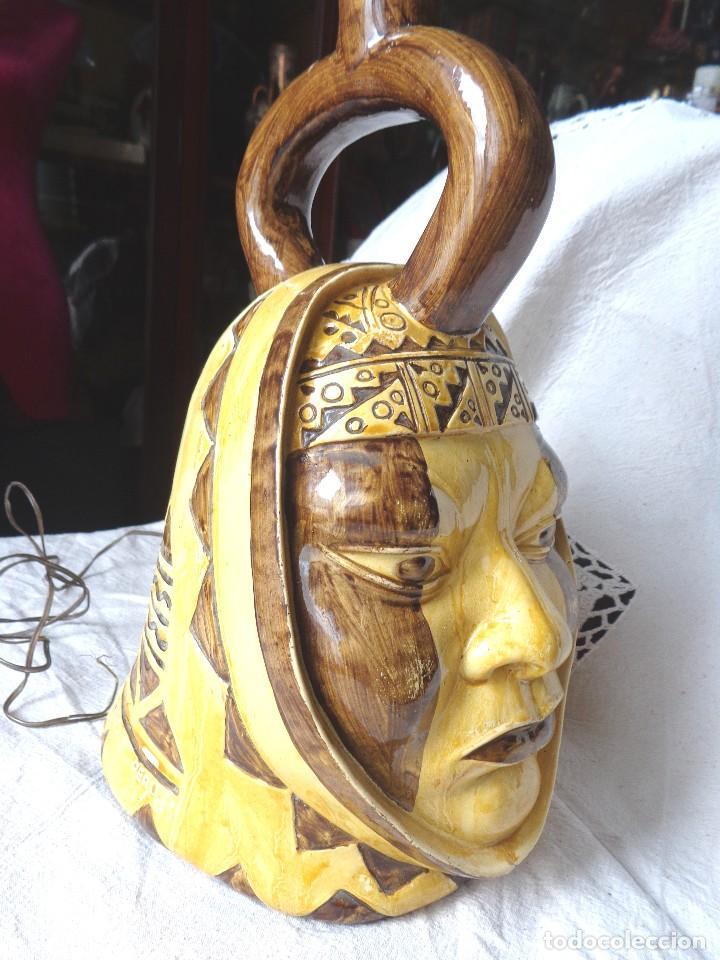 Arte: TERRACOTA ESMALTADA - COLY. MOCHICA -PERU- ES LAMPARA - TAL VEZ AÑOS 60 - Foto 13 - 82619320