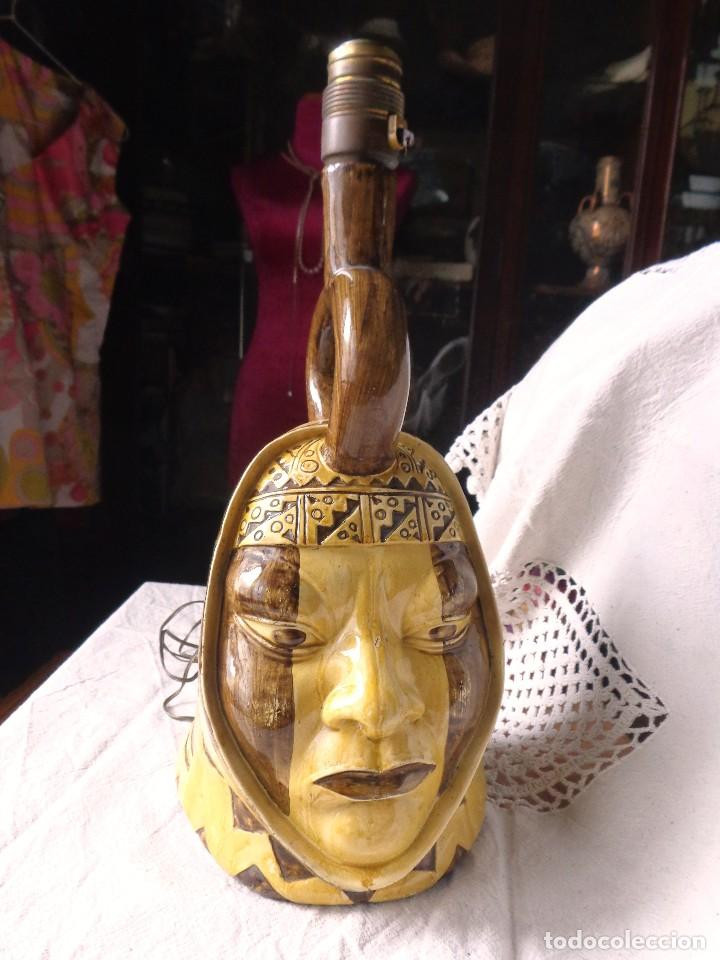 Arte: TERRACOTA ESMALTADA - COLY. MOCHICA -PERU- ES LAMPARA - TAL VEZ AÑOS 60 - Foto 14 - 82619320