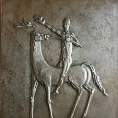 Arte: MARINO MARINI ? PRECIOSA PLACA (BAJORELIEVE) FIRMADA CON INICIALES EN MN 1970. Lote 82894744
